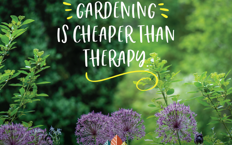 thumbnail image for blog post: Gardening is cheaper than therapy